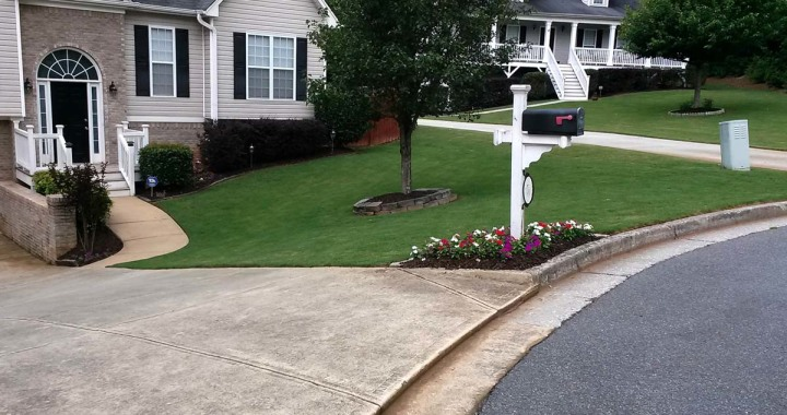 This is a lawn we take care of near Acworth, GA!
